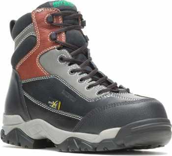 HYTEST 12250 Black Electrical Hazard, Composite Toe, Poron XRD Internal Met-Guard, Waterproof, Non-Metallic Unisex 6 Inch Boot