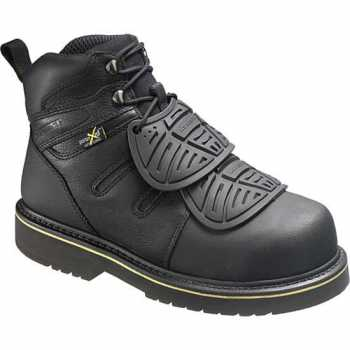 HYTEST 13550 Men's, Black, Steel Toe, EH, External Met, 6 Inch Boot