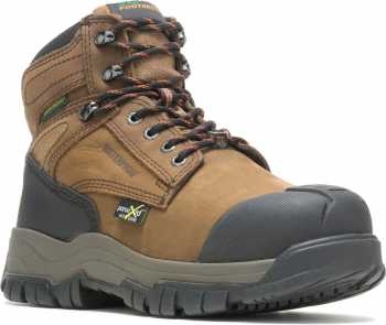 HYTEST 13562 Men's Brown, Comp Toe, EH, Met Guard, PR, Waterproof Hiker