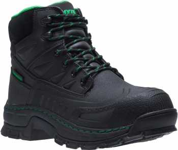 HYTEST 13570 Men's, Black, Comp Toe, EH, WP, Molded Foot, 6 Inch Boot