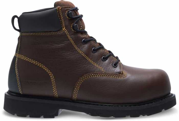 HYTEST 13671 Ajax Brown Electrical Hazard, Steel Toe, Internal Met-Guard Men's 6 Inch Work Boot