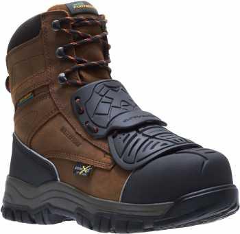 HYTEST 14121 Men's Super-Guard X, Brown, Comp Toe, EH, Mt, PR, Waterproof, 8 Inch Boot