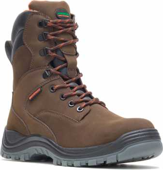 HYTEST 14781 Unisex, Brown, Steel Toe, EH, Waterproof, 8 Inch Boot