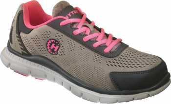 HYTEST 17112 Women's Grey/Pink, Steel Toe, EH, Runner