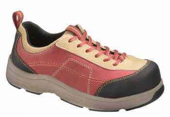 HYTEST 17205 Women's, Red, Steel Toe, EH, Casual Oxford