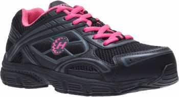 HYTEST 17271 Women's Black/Pink, Steel Toe, EH, Low Athletic Oxford