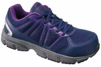HYTEST 17391 Women's, Purple, Steel Toe, EH, Athletic Oxford