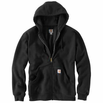 Carhartt Black Rutland Thermal-Lined Hooded Zip-Front Sweatshirt