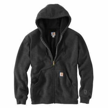 Carhartt Carbon Heather Thermal-Lined Hooded Zip-Front Sweatshirt (Plus Sizes)