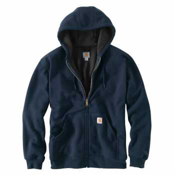 Carhartt Navy Rutland Thermal-Lined Hooded Zip-Front Sweatshirt
