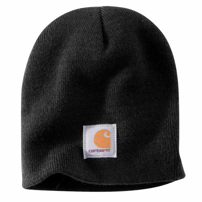 Carhartt Black Acrylic Knit Hat for Men