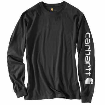 Carhartt Black Long Sleeve Graphic T-Shirt for Men