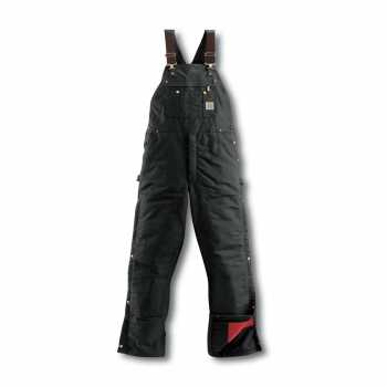 Carhartt Black Duck Zip-To-Thigh Quilt Lined Bib Overall (Plus Sizes)