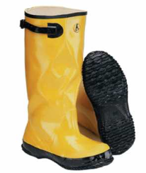 Abel AB6950YEL Yellow Rubber 17 Inch Soft Toe Pullover Slush Boot 100% Waterproof