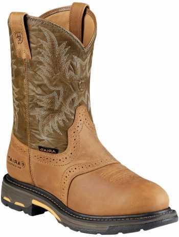 Ariat AR8635 Workhog Aged Bark, Waterproof, Comp Toe, EH, Men's 10 Inch