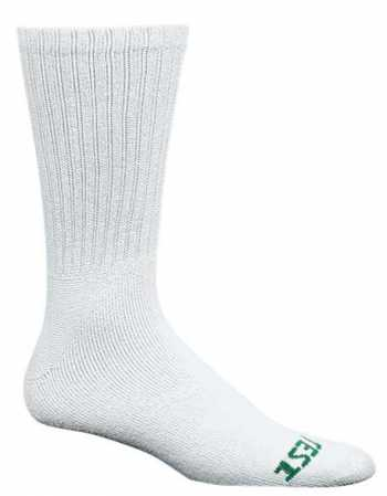 HyTest AS275WHT-12 PK Men's, Solid White, Crew Sock