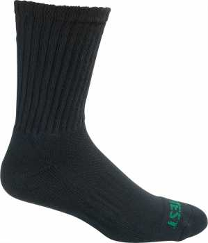 HyTest AS897BLK-12PK Men's, Black, Cotton, Crew Sock