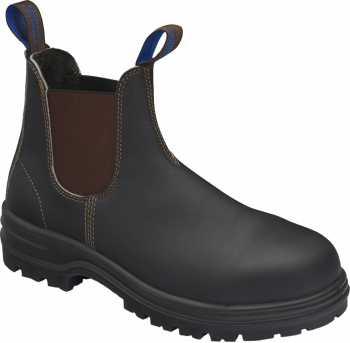 Blundstone BL140 Men's, Stout Brown, Steel Toe, EH, Chelsea Boot