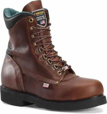 Carolina CA1809 Men's Brown, Steel Toe, EH, 8 Inch Boot, Made In USA