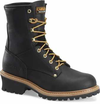 Carolina CA1825 Men's Black, Steel Toe, EH, 8 Inch Logger