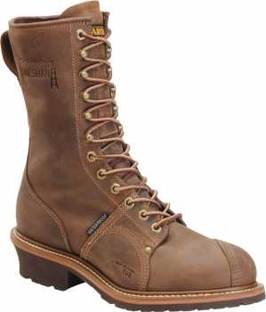 Carolina CA1904 Men's, Cork, Comp Toe, EH, WP, 10 Inch, Linesman Boot