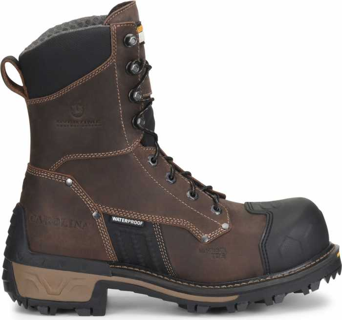 Carolina CA2560 Maximus 2.0, Men's, Brown, Comp Toe, EH, Waterproof 8 Inch Logger