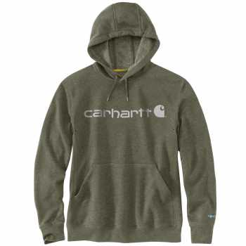 Carhartt Force Moss Heather Delmont Signature Graphic Hooded Sweatshirt for Men