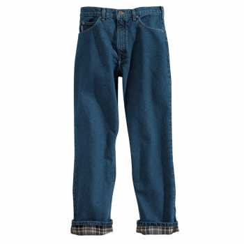 Carhartt Dark Stone Straight Leg Flannel Lined Relaxed Fit Jean
