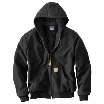 Carhartt Black Quilt Flannel Lined Duck Active Jacket for Men (Plus Sizes)