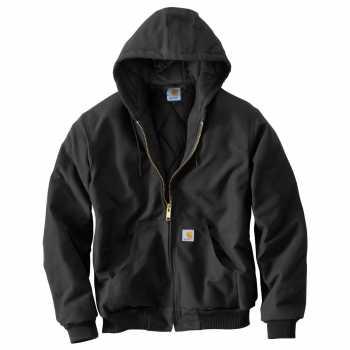 Carhartt Black Quilt Flannel Lined Duck Active Jacket for Men (Plus Sizes)