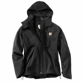 Carhartt Black Shoreline Waterproof Breathable Jacket for Men