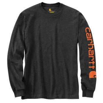Carhartt Carbon Heather Long Sleeve Graphic T-Shirt for Men