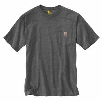 Carhartt Charcoal Heather Short Sleeve Workwear Pocket T-Shirt for Men