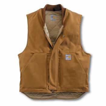 Carhartt Brown Arctic Quilt Lined Duck Vest for Men