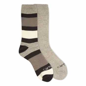 Carhartt Artic Charcoal Heather Thermal Crew Sock for Women 2-Pack