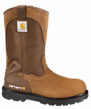 Carhartt CMP1200 Men's, Brown, Steel Toe, EH, WP, 11 Inch Wellington