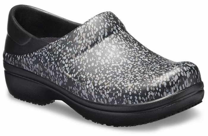 Crocs CRNER205385 Neria Pro II, Women's, Black/Dots, Soft Toe, Slip Resistant Clog