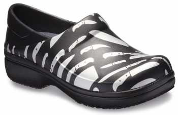 Crocs CRNERIA01V Women's, Black/White, Soft Toe, Slip Resistant Clog