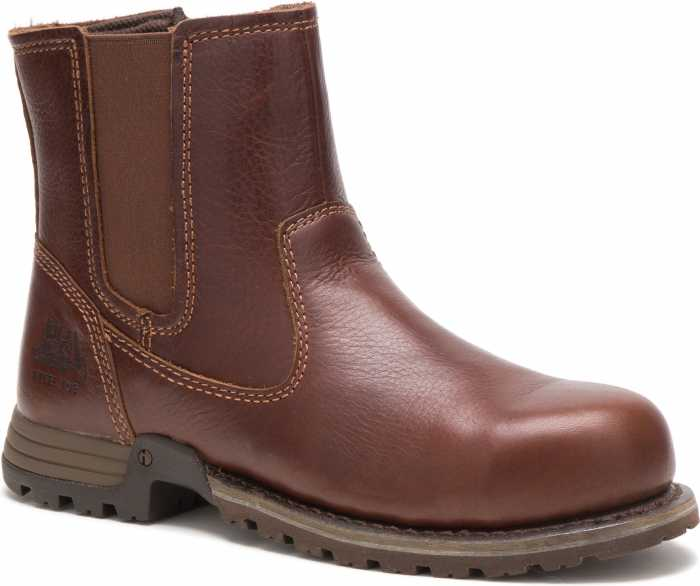 Caterpillar CT90388 Freedom Brown Steel Toe, EH, Women's, Twin Gore Pull On Work Boot