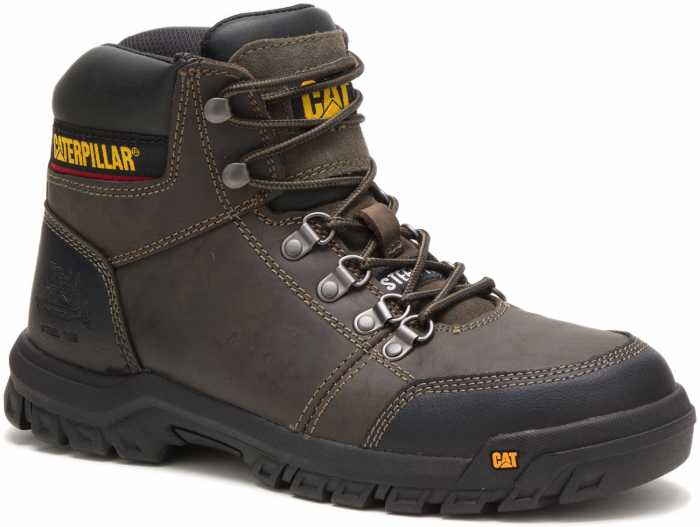 Caterpillar CT90802 Outline, Men's, Gull Grey, Steel Toe, EH, 6 Inch Boot