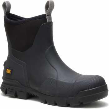 Caterpillar CT91141 Stormers, Men's, Black, Steel Toe, EH, WP, Rubber Boot