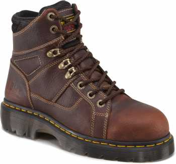Dr. Martens DMR12721200 Ironbridge, Men's, Teak, Steel Toe, EH, Lace To Toe Boot