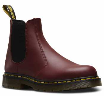 Dr. Martens DMR24383600 Chelsea 2976, Unisex, Red, Twin Gore, Slip Resistant Boot