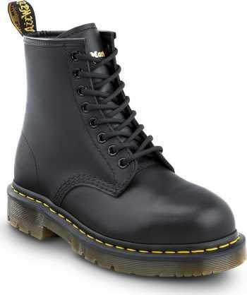 Dr. Martens DMR26307001 1460 Originals 8-Eye Lace Up, Unisex, Black, Steel Toe, EH, 6 Inch Boot