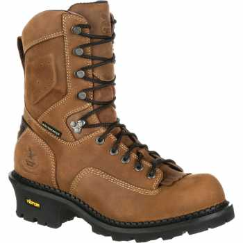 Georgia Boot GAGB00097 Comfort Core Men's, Brown, Comp Toe, EH, Waterproof, 9 Inch Logger