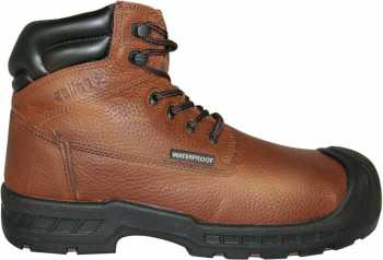 Genuine Grip GGM6100 Vulcan, Men's, Brown, Comp Toe, EH, PR, WP, 6 Inch Boot