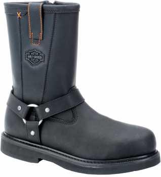 Harley Davidson 95328 Men's Black, Steel Toe, EH Harness Boot