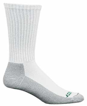 HYTEST AS253WHT-12PK Men's, White/Gray, Crew Sock