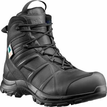 Haix HX620012 Black Eagle, Men's, Black, Comp Toe, EH, PR, WP, 5 Inch, Zipper Boot
