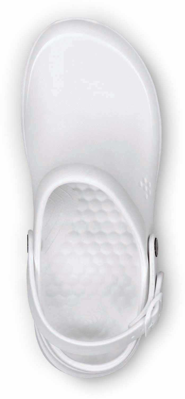 Joybees, JOYWBCLGW Unisex, White, Soft Toe, Slip Resistant, Work Clog